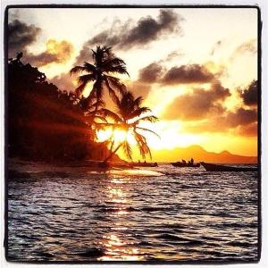Tramonto a Tobago cays