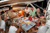 Cena in barca da noi